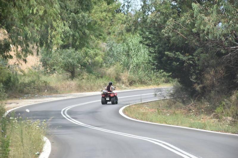 Voznja kvadom na Lefkadi