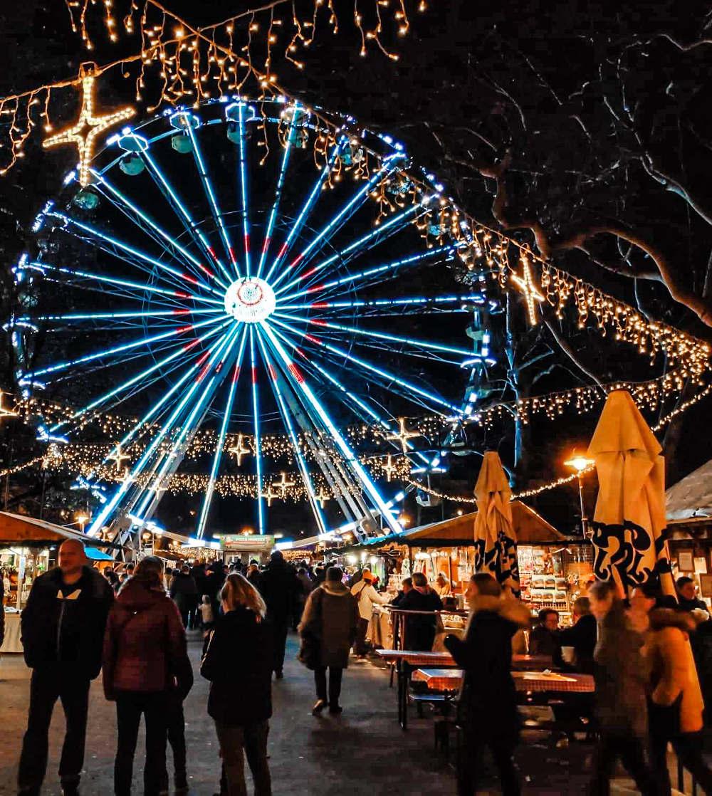 Panoramski točak u Segedinu na božićnom marketu
