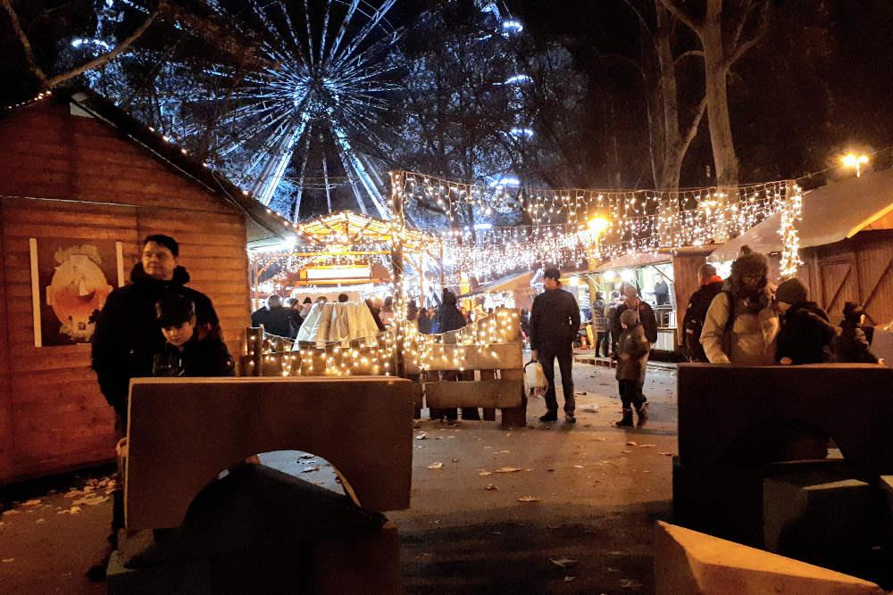Dečje igralište na božićnom marketu u Segedinu